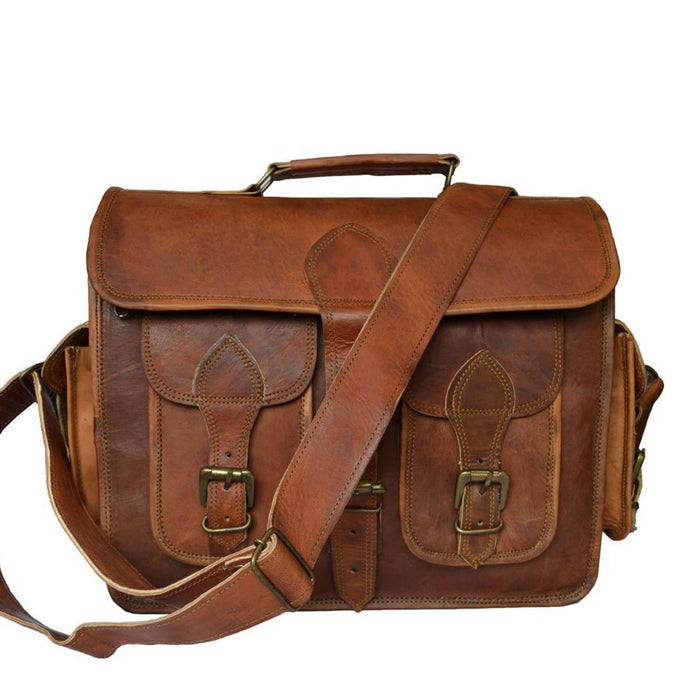 "14"" Genuine Stylish Leather Camera Bag / DSLR Shoulder Bag"