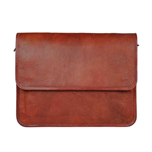 Flap Over Leather Crossbody Messenger Bag Classy Leather Bags