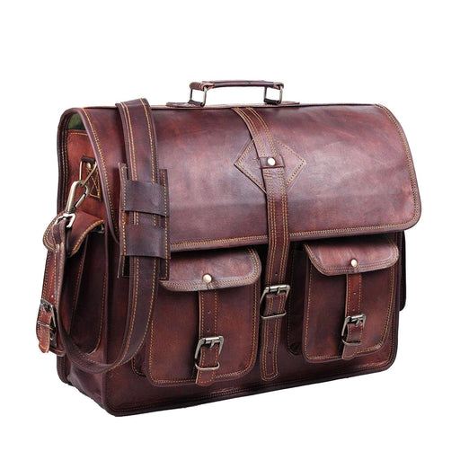 Retro Vintage Distressed Large Leather Messenger Bag Bags Classy Leather Bags