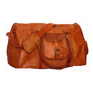 Vintage Leather Travel Weekend Bag