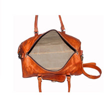 Load image into Gallery viewer, Vintage Leather Travel Weekend Bag