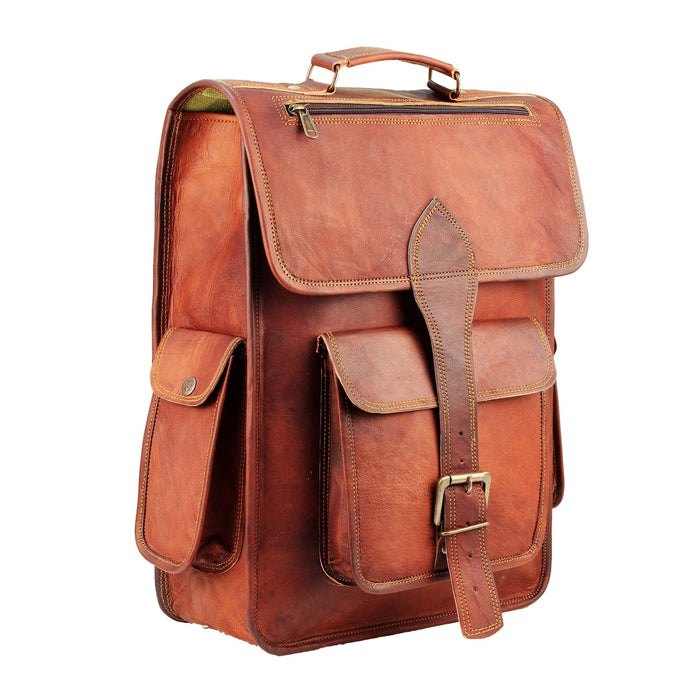 Mahi Leather Laptop Backpack