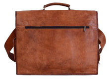 Load image into Gallery viewer, Large Classic Retro Vintage Leather Messenger Bag - Classy Leather Bags