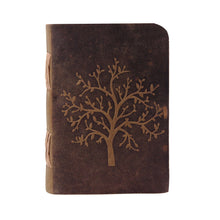 Load image into Gallery viewer, Tree of Life Embossed Journal Buffalo Leather Vintage Traveler Diary Notebook - Classy Leather Bags