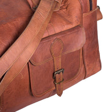 Load image into Gallery viewer, Oversized Mens Leather Weekender Duffle Bag