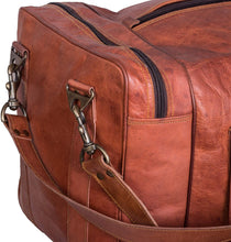 Load image into Gallery viewer, Oversized Mens Leather Duffle Bag