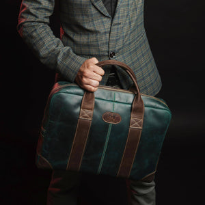 Jefferson Buffalo Executive Leather Laptop Briefcase