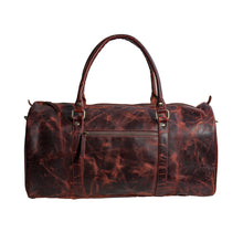 Load image into Gallery viewer, Buffalo Leather Weekender Duffle Bag Brown