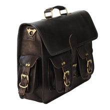 Load image into Gallery viewer, Vintage Black Leather Briefcase Laptop Messenger Bag - Classy Leather Bags