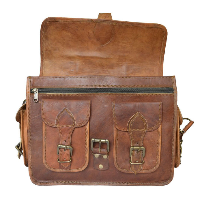 "14"" Genuine Stylish Leather Camera Bag / DSLR Shoulder Bag - Classy Leather Bags"