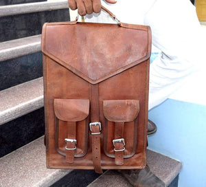 Convertible Leather Backpack Shoulder Bag - Classy Leather Bags