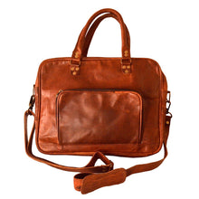Load image into Gallery viewer, Handmade Genuine Vintage Leather Briefcase (Slim, Tan) - Classy Leather Bags