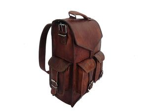 2-in-1 Leather Convertible Briefcase Backpack Crossbody Laptop Bag - Classy Leather Bags