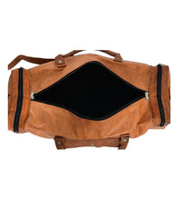 Load image into Gallery viewer, Genuine Leather Travel Weekender Bag