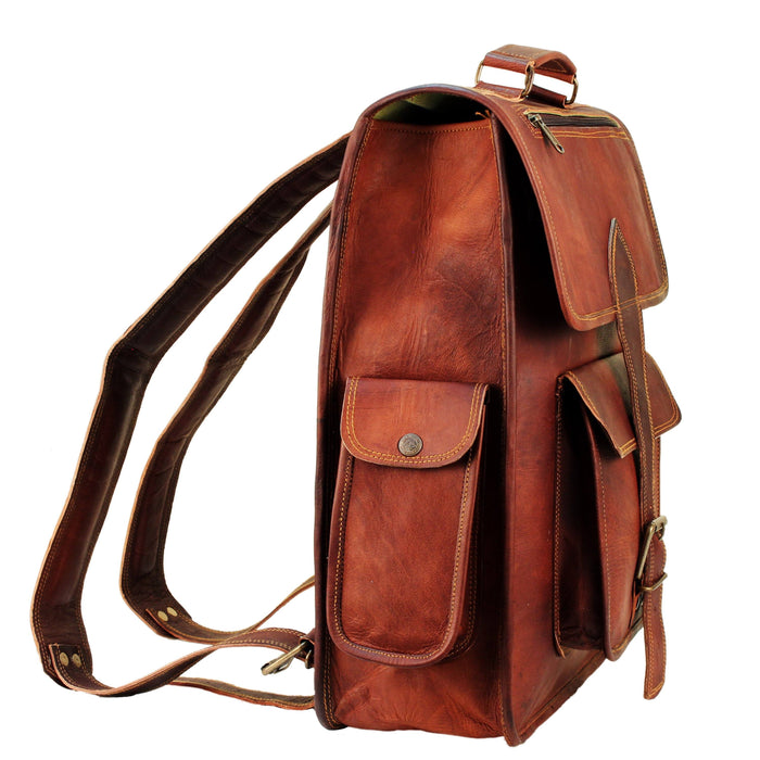 Mahi Leather Laptop Backpack For Men Women - Classy Leather Bags