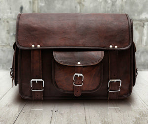 Rugged Leather Messenger Bag - Classy Leather Bags