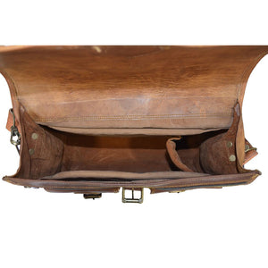 Dark Brown Vintage Leather Camera Bag - Classy Leather Bags