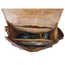 Load image into Gallery viewer, Dark Brown Vintage Leather Camera Bag - Classy Leather Bags