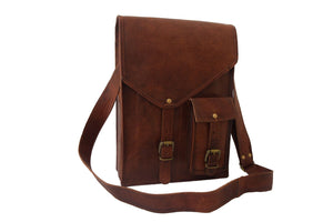 Designer Leather Crossbody Shoulder Messenger Bag - Classy Leather Bags