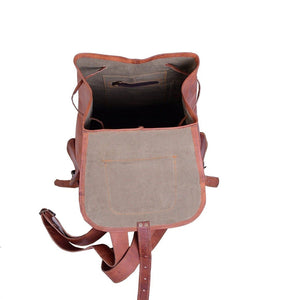 Distressed Brown Leather Backpack Rucksack Men - Classy Leather Bags