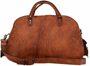Vintage Brown Handmade Leather Duffle Bag - Classy Leather Bags