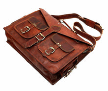 Load image into Gallery viewer, Lawyer/Legal/Attorney Leather Briefcase Messenger Bag - Classy Leather Bags