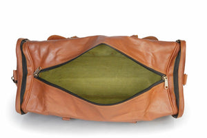 Handmade Mens Leather Duffle Bag - Multi Pockets - Classy Leather Bags