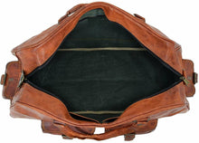 Load image into Gallery viewer, Vintage Brown Handmade Leather Duffle Bag - Classy Leather Bags