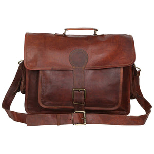 Denver Vintage Leather Laptop Messenger Bag