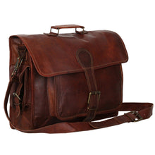 Load image into Gallery viewer, Denver Vintage Leather Laptop Messenger Bag