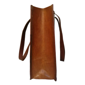 Vintage Style Genuine Brown Leather Tote Women - Classy Leather Bags