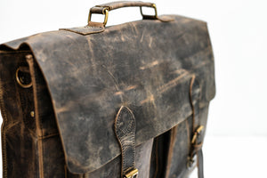 Hunter Leather Buffalo Laptop Messenger Bag