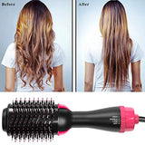 One Step Hair Dryer & Volumizer, Upgrade Hot Air Brush, Salon Negative lon Styling Hair Dryer Brush, Ceramic Electric Blow Dryer, Curler, Straightener, Styler Brush with 2Pcs Hair Clips