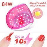 Beetles Gel Nail Polish UV LED Nail Lamp - 84W Nail Dryer Curing Nail Polish Gel Set/Base Gel/Top Coat/Poly Gel Nail Extension for Professional Gel Manicure Kit Nail Art Design Salon DIY at Home