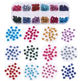 240pcs Nail Decorations Metal Flower 3d Roses 12 Colors DIY Jewel Charms Accessories Supplies