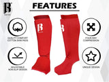 RIMSports Muay Thai Shin Guards Kickboxing - Premium MMA Shin Guards and Shin Pads - Ideal Shin Guard for Shin Protection, Wrestling, Sparring, Muay Thai, Kickboxing & Karate