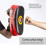 Overmont Taekwondo Kick Pad with Curved Punching Surface Karate Kicking Shield PU Leather for Boxing Martial Art Kickboxing Training(1 Pc Sold as Single)