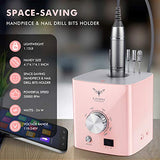 Nail Drills for Acrylic Nail Professional - Electric Nail Drill Ejiubas 30000rpm Portable Electric Efile Drill for Shaping, Buffing, Removing Acrylic Nails, Gel Nails