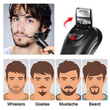 HATTEKER Electric Shaver For Men Rotary Shaver Electric Razor Wet Dry Beard Trimmer Electric Shaving Razors With Pop-up Trimmer Waterproof Cordless Rechargeable