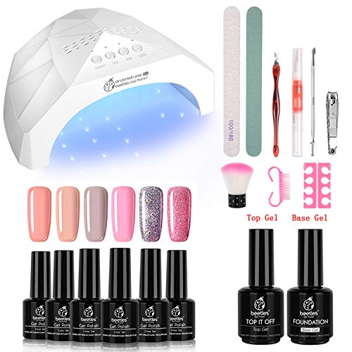 Fall Nail Gel Polish Kit Lamp Manicure Set