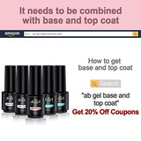 ab gel Nude & Glitters & Cat Eye Gel Polish Set - Popular in Fall Winter Nail Art Home Manicure Kit(8 Colors,5ml Each)