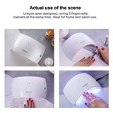 SUNUV 24W LED UV Light Nail Gel Dryer Curing Lamp with 2 Timing Setting for Gel Based Polish SUN9C (White)