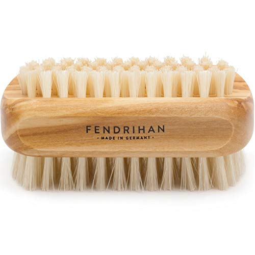 Genuine Boar Bristle Nail Brush with Real Olive Wood Handle MADE IN GERMANY