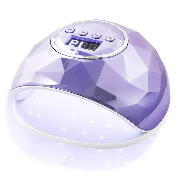 Janolia UV Nail Lamp, 86W UV LED Nail Dryer with 4 Timer Setting, Professional UV Light for Gel Nail Polish, Automatic Sensor and Over-Temperature Protection (Plated Purple)