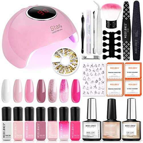 Fall Nails Manicure Kit Lamp Drill Machine Polish UV Light Starter Kit 7 Colors 36W Nail Lamp