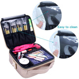 Relavel Travel Makeup Train Case Makeup Cosmetic Case Organizer Portable Artist Storage Bag 10.3'' with Adjustable Dividers for Cosmetics Makeup Brushes Toiletry Jewelry Digital Accessories (Marble)