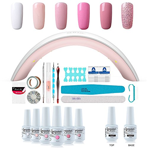 Fall Nails Manicure Kit Lamp Drill Machine Polish 6 Colors Gel 36W LED Nail Dryer Lamp