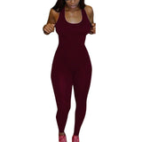 Women Casual Sleeveless Bodycon Romper Jumpsuit