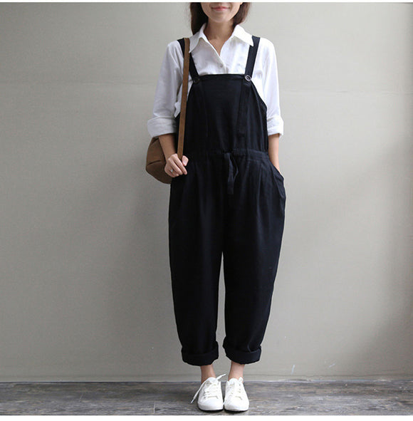 Oversized Dungaree Casual Long Pants Jumpsuits