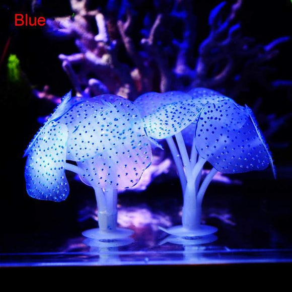 Glowing Artificial Jellyfishes Silicone Simulated Aquatic Plants